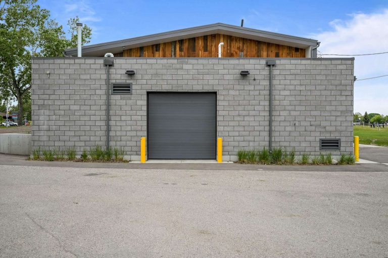 Loading dock with access from parking area